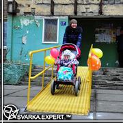 Изготовление пандусов для инвалидов. Пандус для колясок Киев.